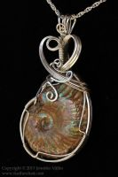 Enduring Seas Ammonite Pendant by Nambroth