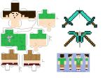 Tobuscus Minecraft Papercraft by Superjay14
