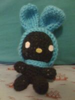Black Amigurumi My Melody by lovechairmanmeow