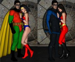 Dick and Wonder Girl by Daniel-Remo-Art