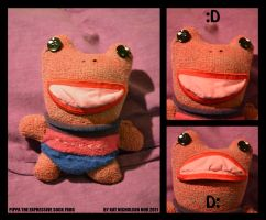 Pippa the expressive sock frog by Kat-Nicholson