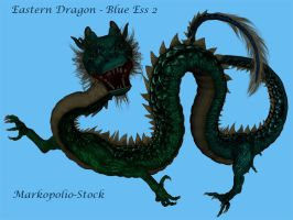 Eastern Dragon Blue Ess 2 by markopolio-stock