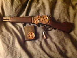 Steampunk carbine pistol (back clip out) by echo-mlb