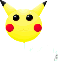 Pikachu Balloon by Imalune