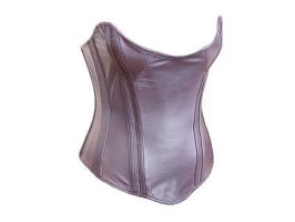 Prototype Plum Leather Corset by Me-Se
