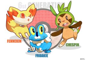 Pokemon starters 6 by Charln