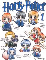 chibi version of Harry Potter by yokisu
