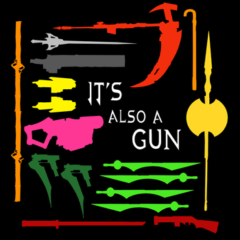 RWBY - Just the Guns this time by Lightning-in-my-Hand
