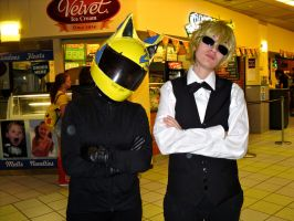 Celty and Shizuo by blondewolf2