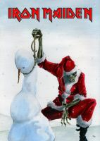 Iron Maiden with christmas by Jespinator