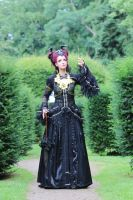 Stock - Faun lady gothic romantic look up pose by S-T-A-R-gazer