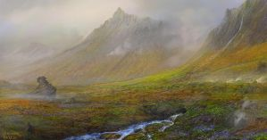 attempt afterglowing iceland valley II by andrekosslick