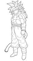 Goku SSJ4 Full Body 1st preview by drozdoo