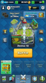 My Clash Royale account by ZenthicKorea