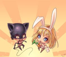 SD catwomen and bunnywomen XD by sissy20021