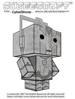 Cubeecraft - Damaged  Cyberman by CyberDrone