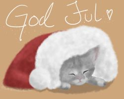 Christmas cat by Anolee