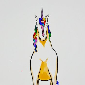 Confused Unicorn by Dramatically-Ironing
