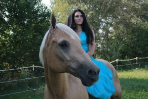 Blue Dress 1 by Equus-Stock