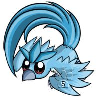 Articuno Chibi by RedPawDesigns