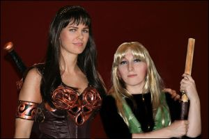 Xena and Gabrielle together by GingerAnneLondon