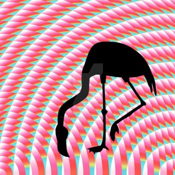 Op Art Flamingo by crypticfragments