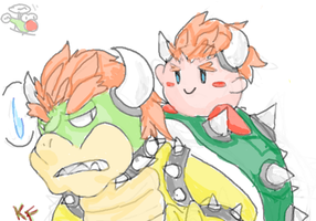 Bowser Kirby by Kirafrog