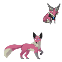 Pink Fox Adopt (Set) - Adopted by Feralx1