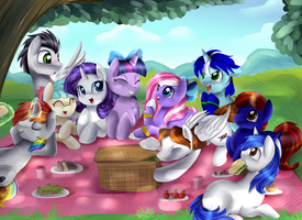Commission: Picnic by pridark