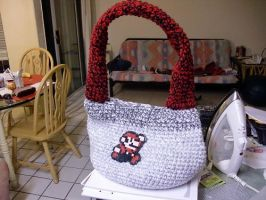 Super Mario Inspired Crochet Bag or Purse by retrocrafts