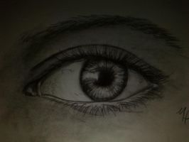 drawing of a realistic eye by Sonnenelfe