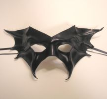 Black Leather Bat Mask by teonova