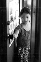 Girl at door by photoart1
