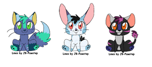 Chibi Animal Adoptables by LizzysAdopts