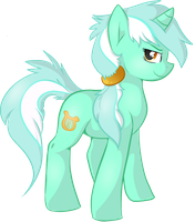 Lyra Weird Mane Style Normal by BlueGriffyon