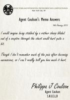 Agent Coulson Memos Answers 14 by TheQueenofLight