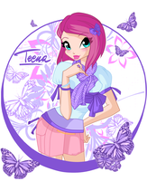 Tecna of Winx Cafe style by alamisterra