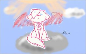 [GIFT] Letting his wings set by ChaoticPuppetMaster