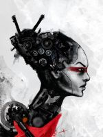 Droid Girl 06 by touchedbyred