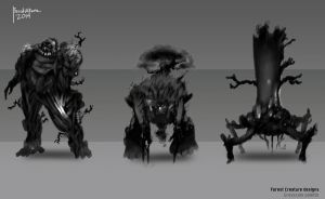 Forest Creature Designs SET A by benedickbana