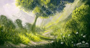 Rural path - speedpaint by Syntetyc