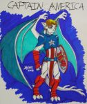 Captain America Gargoyle by DogDemonAbridged12