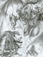 Glorfindel VS the Balrog by Vrolokya