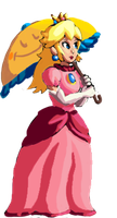 Princess Peach Toadstool Sprite by Nighteba