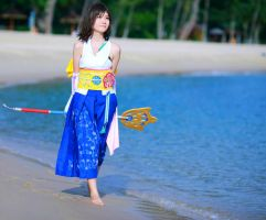 Yuna walk along Besaid by yukolin93