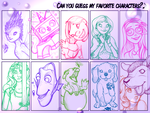Can You Guess My Favorite Female Characters? by MistyWisty