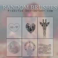 +Random photoshop brushes by PixelTux