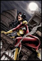 Spiderwoman Night by MARCIOABREU7