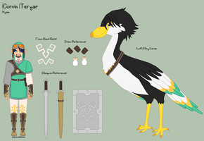 LoZ - Corvin Reference Sheet by porcelian-doll