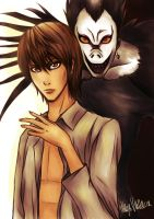 Death Note: Light and Ryuk by AiriKanda